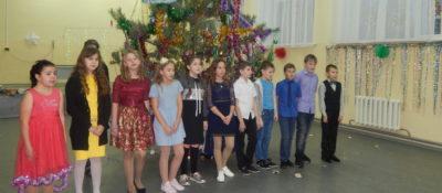 Новый год в нашей школе проходил весело и азартно